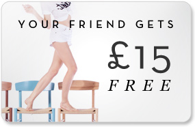 your friend gets £15 free